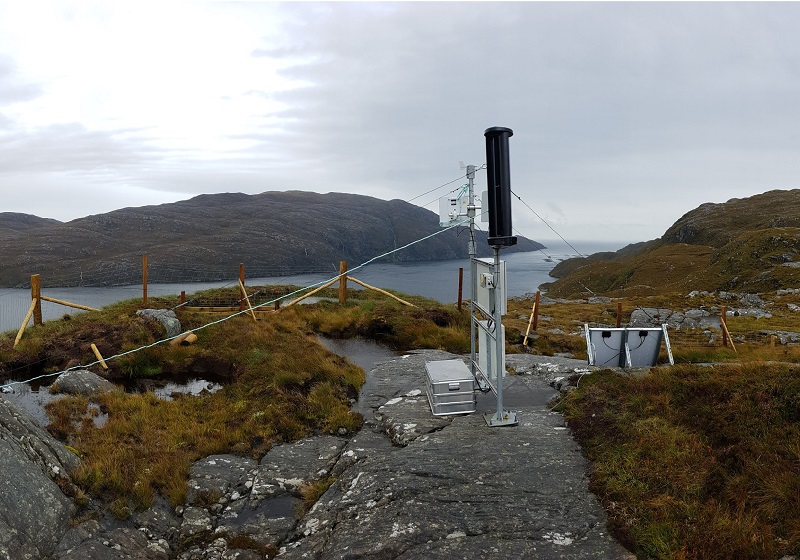 Radio repeater station powered by Leading Edge LE-v150 Extreme wind turbine