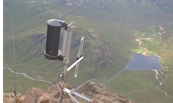 Radio communications powered by LE-v50 vertical wind turbine