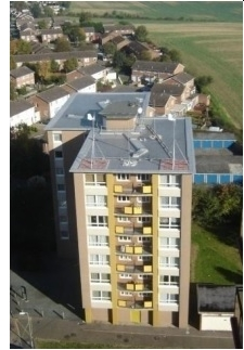 Tubines on the top of the Ashton Court flats performed well