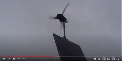 Video: An LE-600 Turbine operating an off-grid hybrid power system