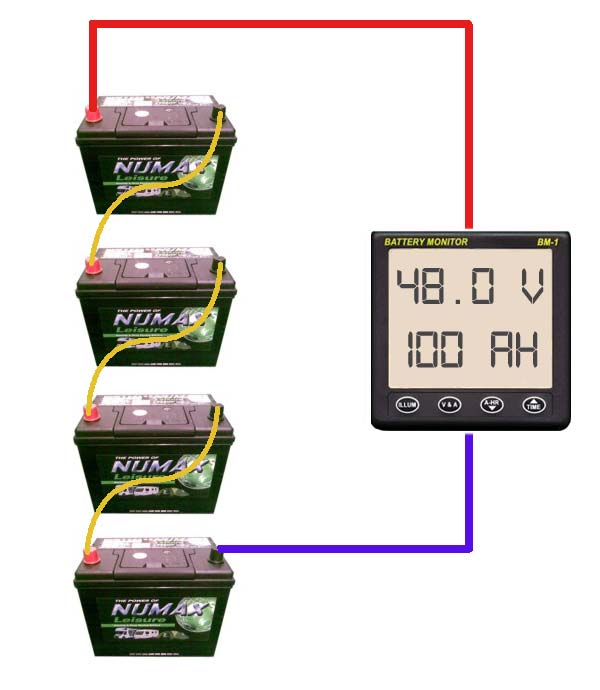 wiring batteries in series diagram