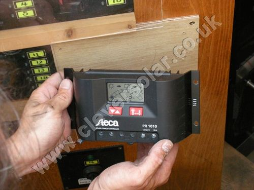 installed Steca PR1010 solar charge controller with LCD 1