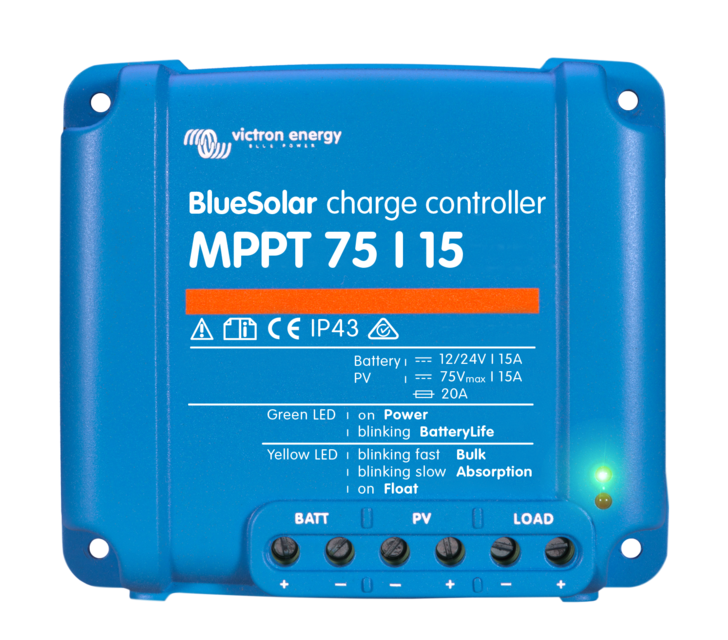 Victron BlueSolar 15A MPPT Charge Controller (12/24V)