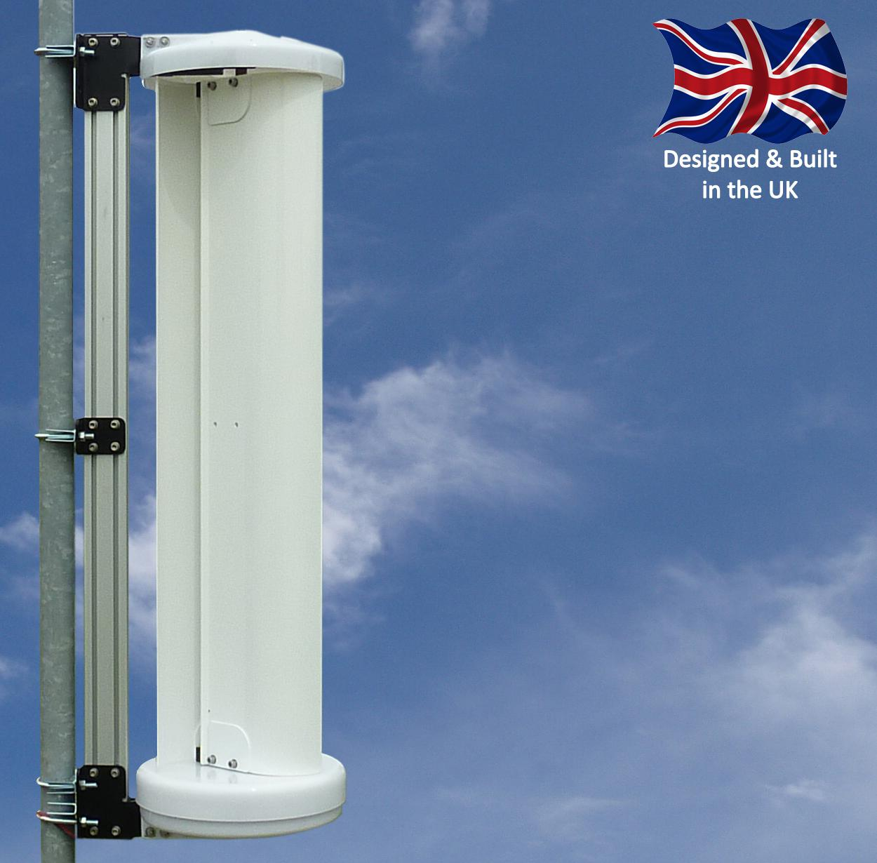 lev150 vertical wind turbine providing offgrid power
