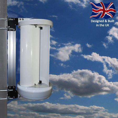 LE-v50 vertical wind turbine providing off-grid power
