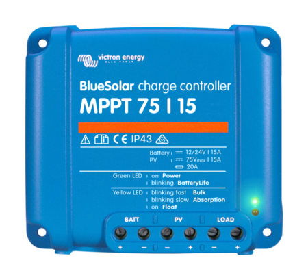 Victron BlueSolar MPPT Charge Controller 75/15 (12/24V-15A)